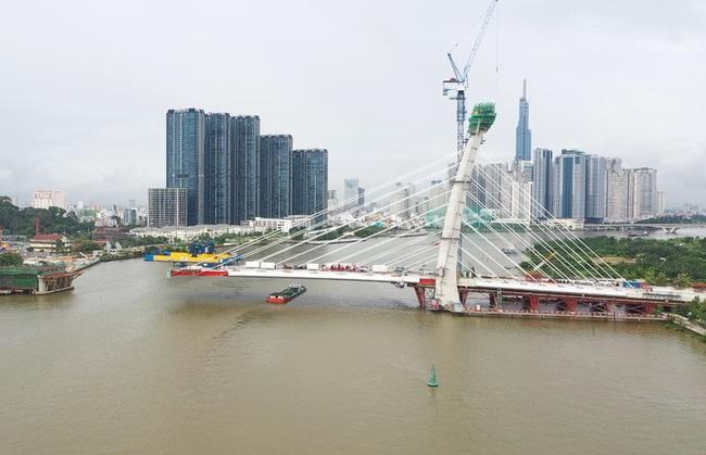 Cầu Thủ Thiêm 2 dự kiến sẽ hoàn thành dự án vào quý II/2022 - Ảnh 1.