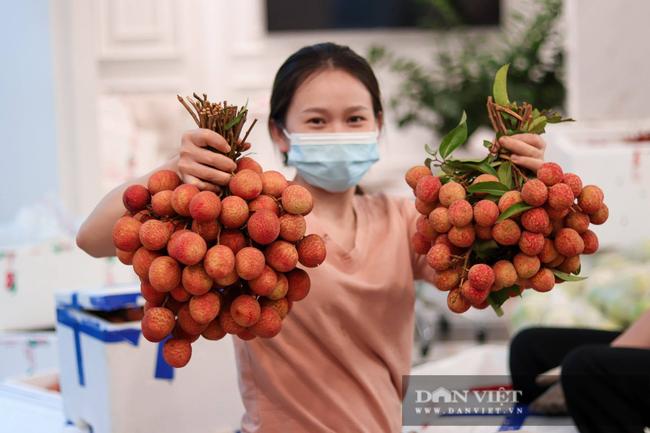 """Hà Nội: Bà chủ thẩm mỹ viện """"đóng vai"""" tiểu thương bán vải thiều Bắc Giang, ủng hộ 430 triệu đồng vào Quỹ vaccine - Ảnh 3."""