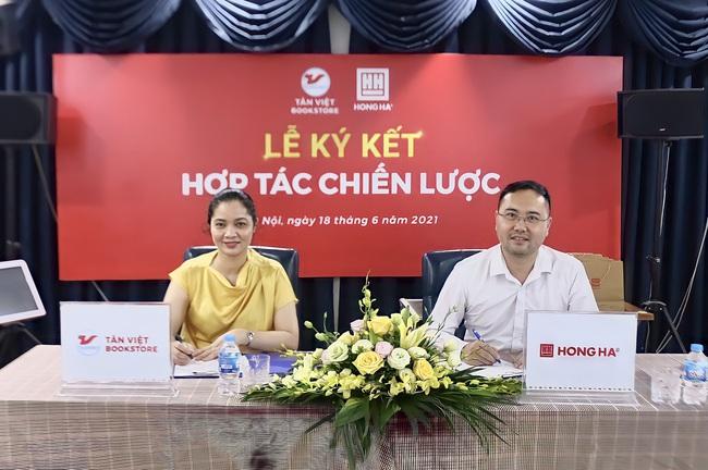 Ký kết hợp tác chiến lược giữa Công ty CP Văn hóa và giáo dục Tân Việt với Công ty Văn phòng phẩm Hồng Hà - Ảnh 1.