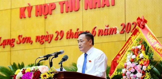 Chủ tịch Lạng Sơn tái cử với 100% phiếu bầu - Ảnh 1.