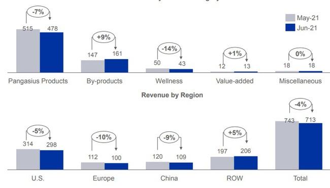 """Doanh thu tháng 6 của """"nữ hoàng cá tra"""" Vĩnh Hoàn tăng 15%, đóng góp chủ yếu từ thị trường Mỹ  - Ảnh 3."""
