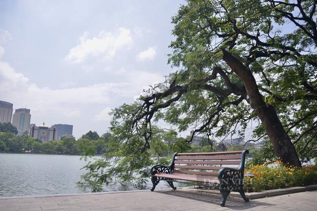 Có một hồ Gươm vắng vẻ, bình yên trong ngày đầu Hà Nội thực hiện Chỉ thị 16 - Ảnh 9.