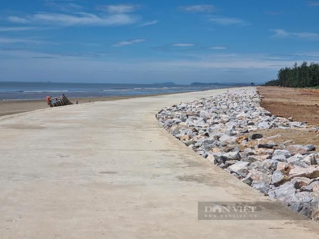 Chùm ảnh, clip: Cận cảnh kè biển gần 92 tỉ đồng ngăn nước biển xâm thực đồng ruộng - Ảnh 4.