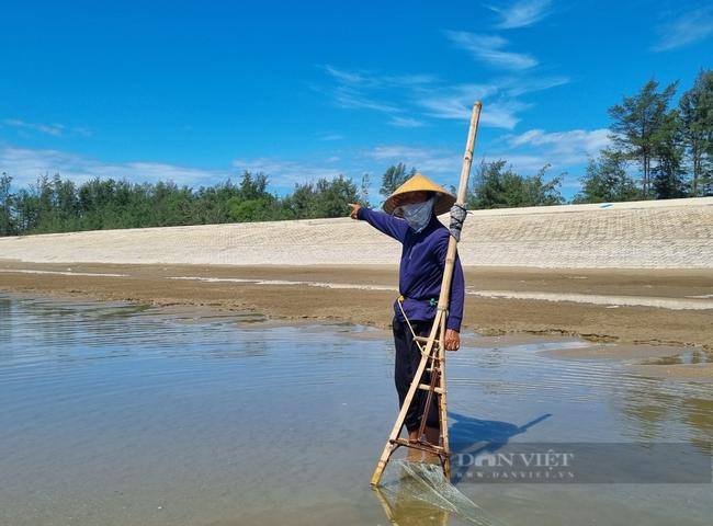 Chùm ảnh, clip: Cận cảnh kè biển gần 92 tỉ đồng ngăn nước biển xâm thực đồng ruộng - Ảnh 5.