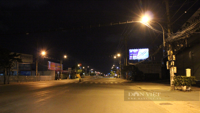 20 giờ ngày 30/7, tại đường Quốc lộ 13 đi qua địa bàn phường Hiệp Bình Phước. Ảnh: Nguyên Vỹ
