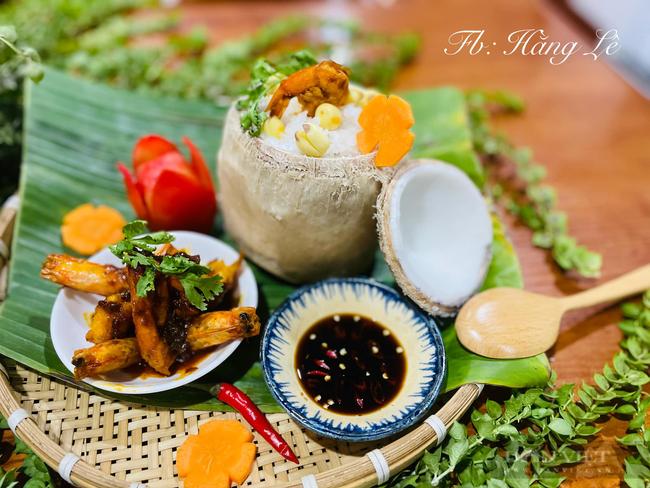 Bí quyết làm món cơm hấp trái dừa thơm ngon - Ảnh 1.