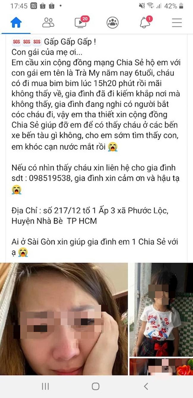 base64 16294147128132053816102 TP.HCM: Bé gái 6 tuổi bị bắt cóc khi đi mua bim bim là tin giả