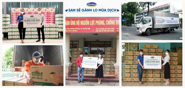 San sẻ khó khăn mùa dịch, Vinamilk tặng 45.000 phần quà cho người dân gặp khó khăn tại TP.HCM, Bình Dương, Đồng Nai - Ảnh 1.