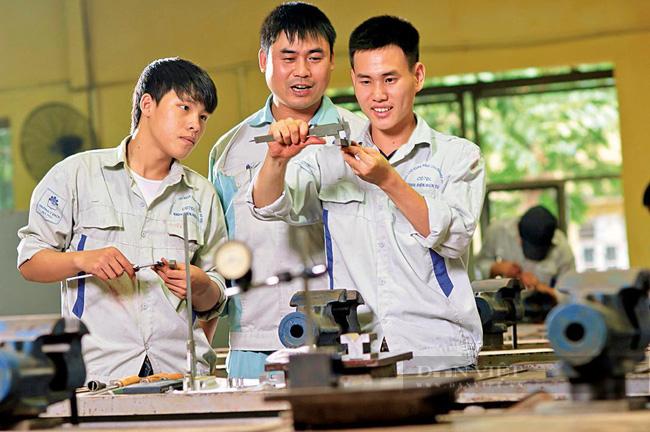 Dự kiến đề án sẽ đào tạo, nâng cao kỹ năng nghề cho 30.000 lượt lao động. Ảnh: N.T chụp tại Trường Cao đẳng Công nghiệp Hà Nội