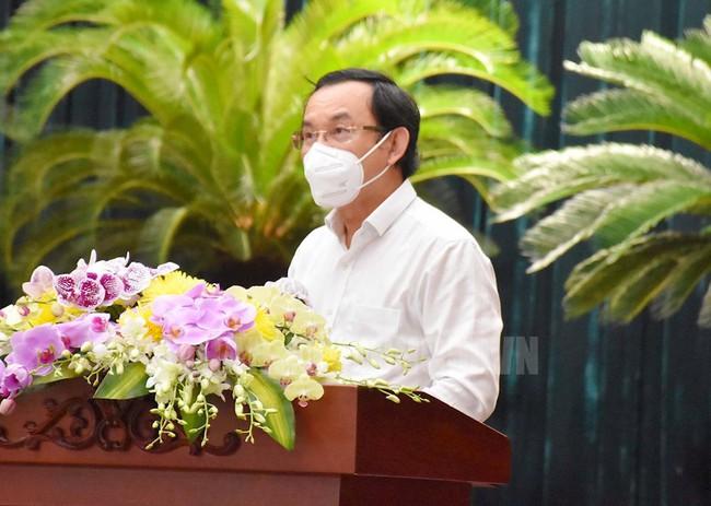 """Bí thư Thành ủy TP.HCM Nguyễn Văn Nên: """"Thành phố từng bước mở cửa nền kinh tế, không nôn nóng, không quá chậm"""" - Ảnh 1."""