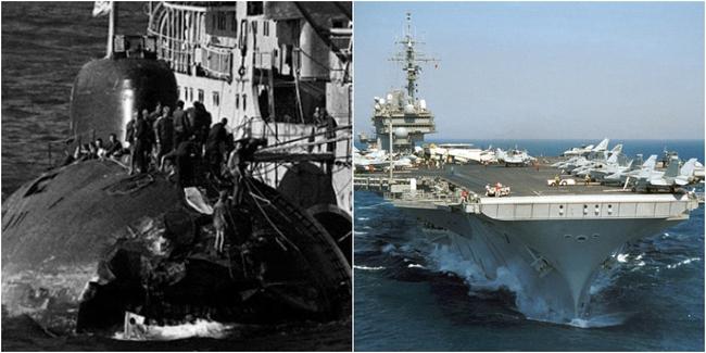 Kinh hoàng những vụ tàu ngầm Liên Xô đâm vào tàu sân bay Mỹ - Ảnh 6.