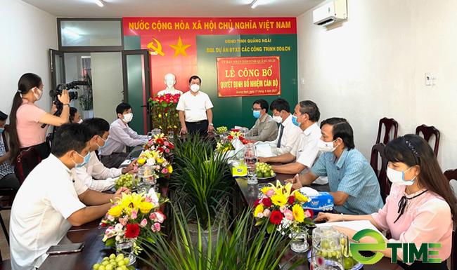 """Quảng Ngãi: Ban quản lý dự án lớn """"nhất, nhì"""" của tỉnh có Giám đốc mới  - Ảnh 1."""