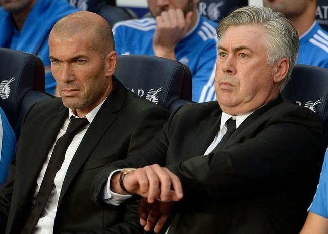 Zidane từng là học trò của Ancelotti. Ảnh: Goal