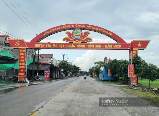 Năm 2020, huyện Yên Mô đạt chuẩn nông thôn mới. Ảnh: Vũ Thượng