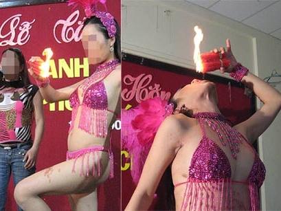 Cận cảnh màn múa lửa của một ca sĩ đổi giới gây xôn xao trong cộng đồng mạng