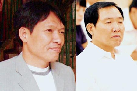 Ông Dương Tự Trọng (trái) và  ông Dương Chí Dũng