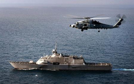 Ngoài ra LSC-1 còn được hỗ trợ bởi trực thăng và UAV