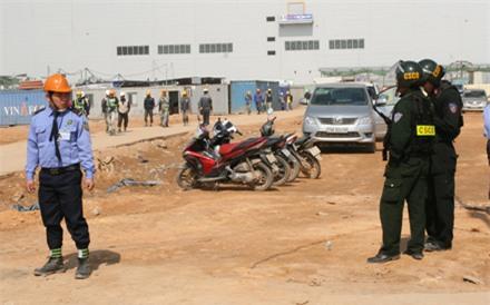 Sau vụ xô xát, lực lượng CSCĐ đã phải cắm chốt tại chỗ để đảm bảo ANTT tại nhà máy.