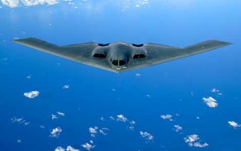 Máy bay quân sự - oanh tạc cơ tàng hình B-2 có giá