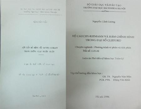 Hai cuốn luận án được cho là có nhiều điểm giống nhau.