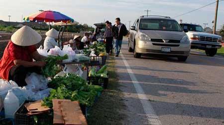 Chợ chồm hổm ở Texas.