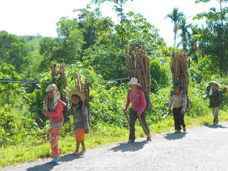 Hình ảnh này thường gặp ở phụ nữ Cơtu vùng núi Quảng Nam.