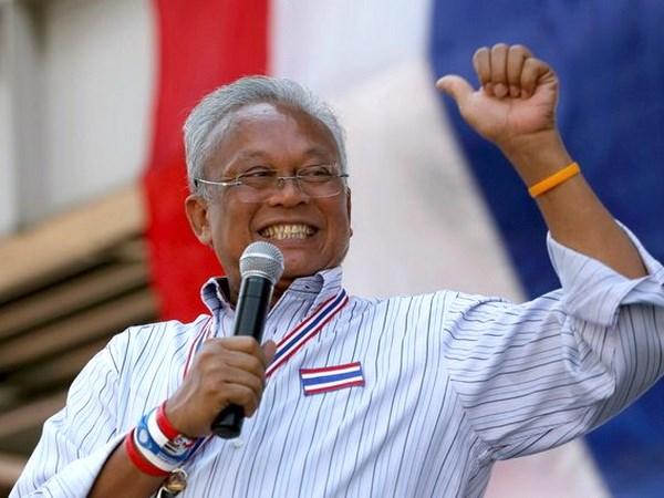 Thủ lĩnh phong trào biểu tình chống Chính phủ Thái Lan Suthep Thaugsuban. (Nguồn: AP)