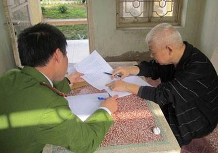 Bị can Nguyễn Đức Kiên trong trại giam.