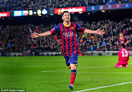 Messi quyết ghi bàn vào lưới Man City