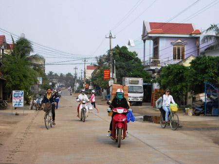 Một góc xã Tam Quan Bắc (huyện Hoài Nhơn), nơi sẽ hoàn thành 19/19 tiêu chí vào cuối năm nay.