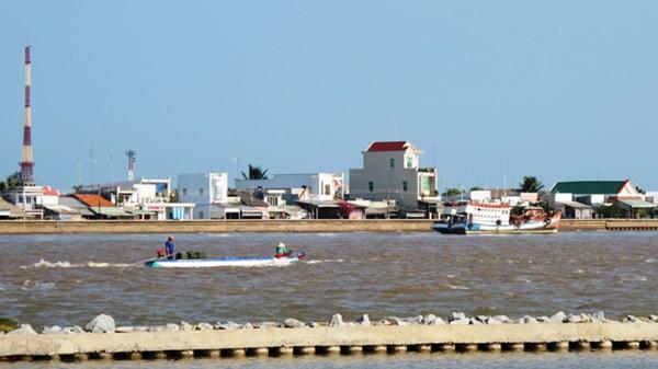 Một góc cảng biển Gành Hào (Đông Hải, Bạc Liêu)