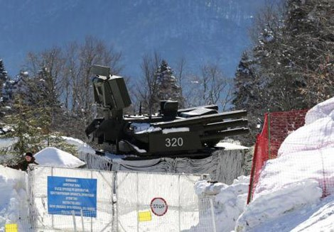 Một biến thể mô-đun không sử dụng đầu xe của tổ hợp Pantsir-S1 xuất hiện tại thế vận hội Sochi 2014.