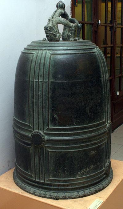 Chuông chùa Vân Bản, hiện lưu giữ tại Bảo tàng Lịch sử quốc gia, Hà Nội - Ảnh: Ngọc Thắng