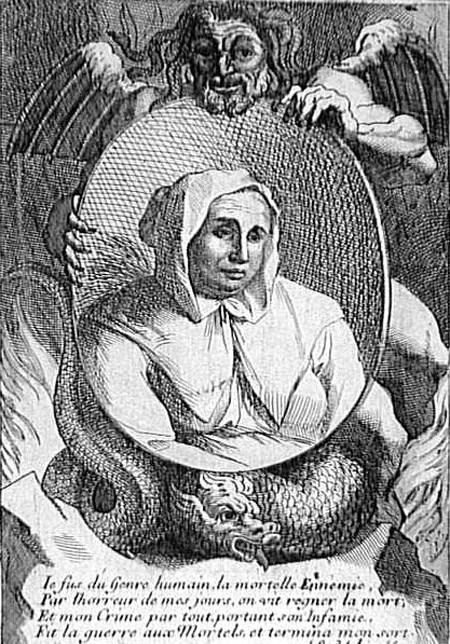 Phù thủy Catherine Monvoisin bị hành hình cùng con gái.