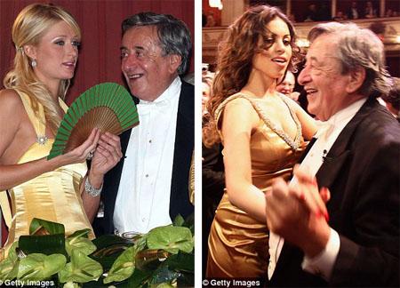 Richard Lugner vốn nổi tiếng là vung tiền mời các ngôi sao hẹn hò với ông. Richard từng mời tiểu thư Paris Hilton
