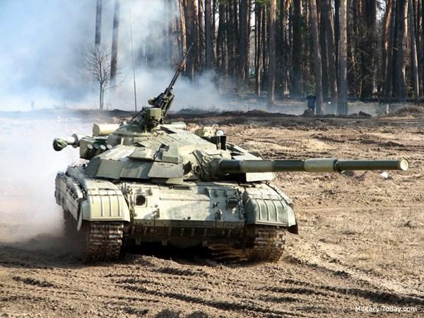 Xe tăng T-64BM Bulat của Ukraine.