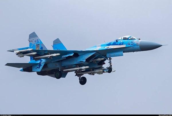 Tiêm kích Su-27 của Ukraine.
