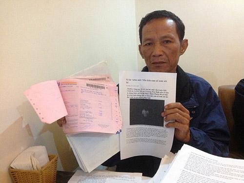 Ông Lê Bá Triệu cho biết chừng nào chưa nhận được câu trả lời thỏa đáng của Chánh án TAND Tối cao và Viện trưởng VKSND Tối cao thì ông còn ở lại Hà Nội để kêu oan cho Lê Bá Mai