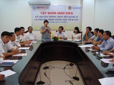 Một lớp học nâng cao nghiệp vụ cho cán bộ Hội Nông dân thành phố.