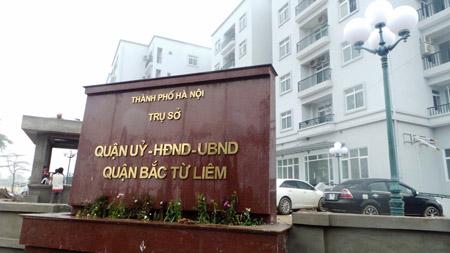 Trụ sở Quận ủy, HĐND, UBND quận Bắc Từ Liêm đang được gấp rút hoàn thiện (ảnh chụp ngày 13.3).