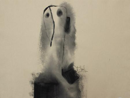 """Tác phẩm """"Một bầy lặng im 3""""  của họa sĩ Tào Linh."""