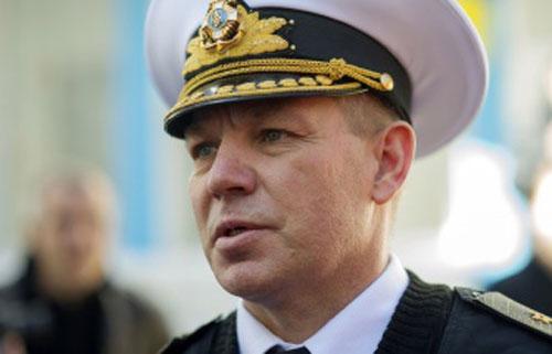 Tư lệnh Hải quân Ukraine Sergey Gaiduk. Ảnh: Itar Tass