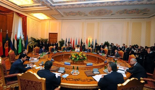 Hội nghị thượng đỉnh Cộng đồng các quốc gia độc lập (CIS) tháng 9.2011. (Nguồn: THX/TTXVN)