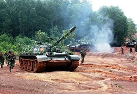 Xe tăng T-54/55 Việt Nam.
