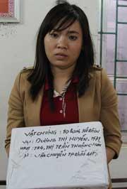 Chỉ vì hám lợi, Dương Thị Huyền đã sa chân vào tội lỗi khi vận chuyển thuê 10 bánh heroin.