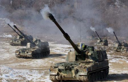 Pháo tự hành K-9 của Hàn Quốc. Ảnh: Itar-tass