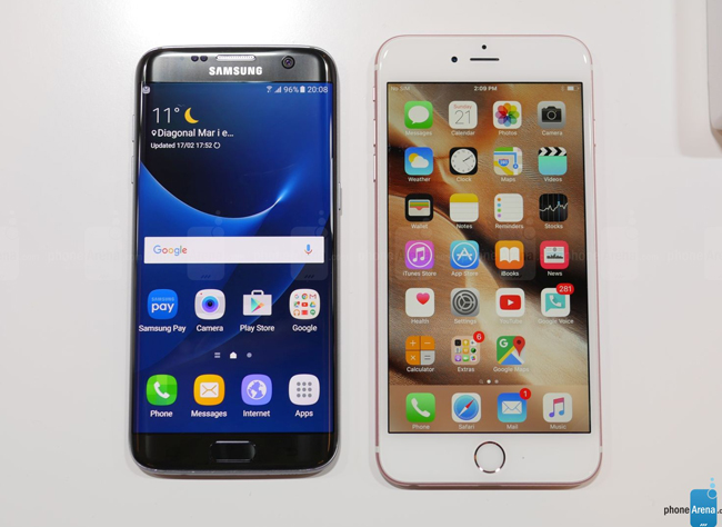 so sanh galaxy s7 edge vs iphone 6s plus: cham tran nay lua hinh anh 3