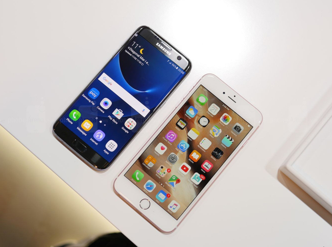 so sanh galaxy s7 edge vs iphone 6s plus: cham tran nay lua hinh anh 4