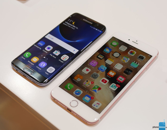 so sanh galaxy s7 edge vs iphone 6s plus: cham tran nay lua hinh anh 5