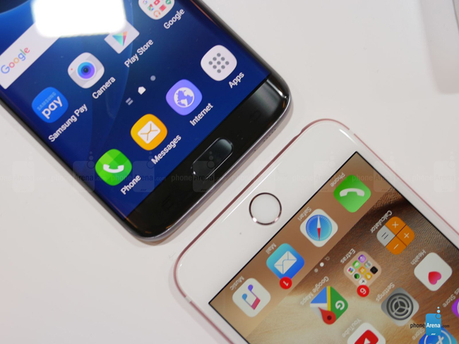 so sanh galaxy s7 edge vs iphone 6s plus: cham tran nay lua hinh anh 7